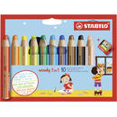 Multitalent-Stift STABILO woody 3 in 1 10er Etui  + Spitzer